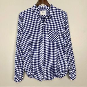 Rails Charli Shirt Cobalt Gingham Plaid Button Up